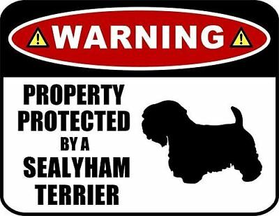 Warning Property Protected by a Sealyham (SILHOUETTE) Laminated Dog Sign
