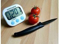Digital Kitchen Timer, Big Digits, Loud Alarm, Magnetic Backing, **Brand New**