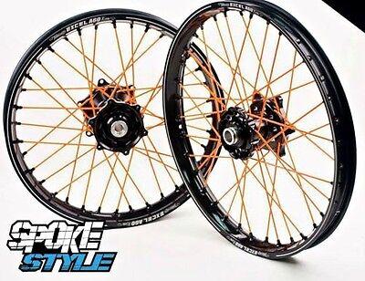 Spoke Style Speichen Cover Überzug MX Motocross Orange KTM EXC 125 250 350 450
