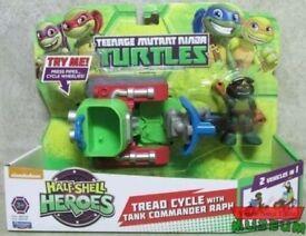 Teenage Mutant Ninja Turtle Tread Cycle Tank Commander Raph Half Shell Hero new