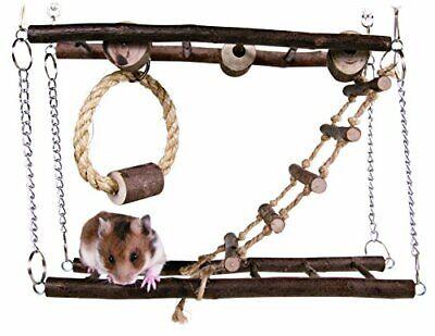 Trixie Puente Colgante A 2 Pisos Juego Para Hamsters Y Pequeño Roedores