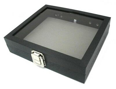 1 Glass Top Lid Case Grey Pad Case Jewelry Militaria Collectibles