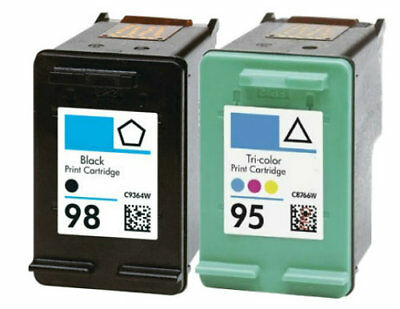 HP 95 98 Combo Color Black Ink Cartridges NEW GENUINE