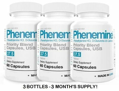 3 Phenemine Adipex Weight Loss Slimming Diet Pills Suppress Appetite Suppressant