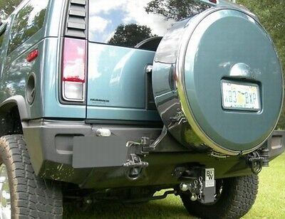 New YELLOW Hummer H2 Rollmasters Hard Spare Tire Cover Carrier Aluminum Metal