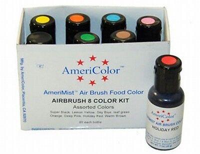 8 Farben-Set AmeriColor AmeriMist für Airbrush (8x19ml)