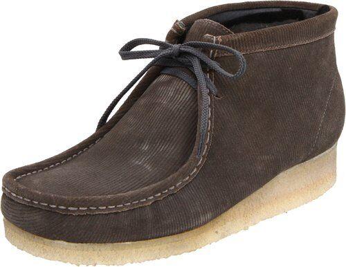 Clarks Originals Men's Wallabee Boot Core Grey Corduroy Suede 34350