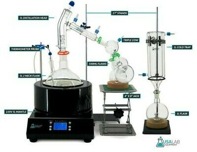 Usa Lab Equipment Premium 5000ml 5l Short Path Distillation Kit