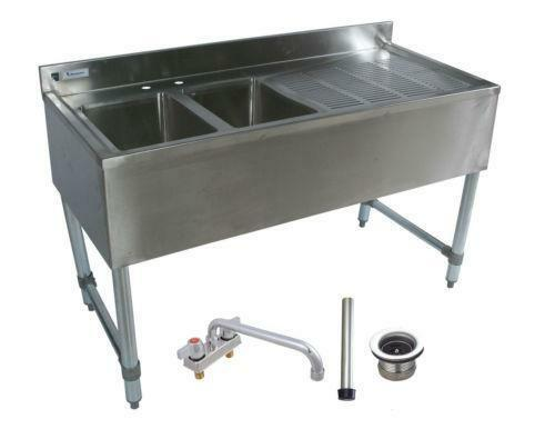 Utility Sinks With Drainboards : Stainless Steel Sink with Drainboard eBay