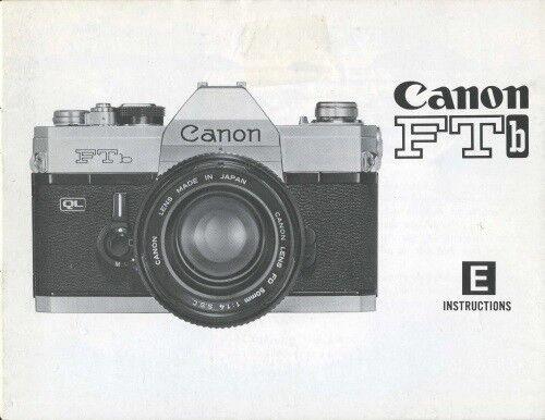 Canon FTbn FTb Instruction Manual original
