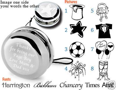 Personalisierte Graviert Yo-Yo / Yo Yo Pagenjunge/Pagen Geschenk