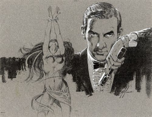 MIKE GRELL PAINTING PERMISSION TO DIE #1 JAMES BOND 007 COMIC ART