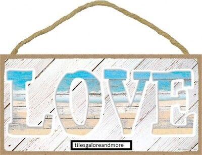 LOVE Simple Beach Ocean Lake Themed Wall Sign Pool Bath Home 10