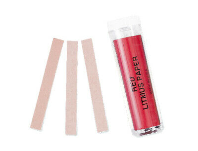Red Litmus Ph Test Paper Base Indicator 100 Strips Ph 6.8 - 8.1