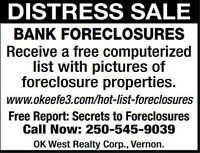 Distress Sale/Bank Forclosures