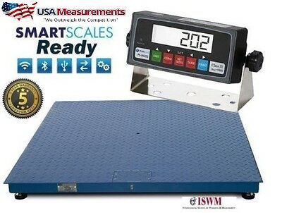 New 5x5 Floor Scale 20000 X 5 Lb Pallet Scale Heavy Duty Usa Calibrated
