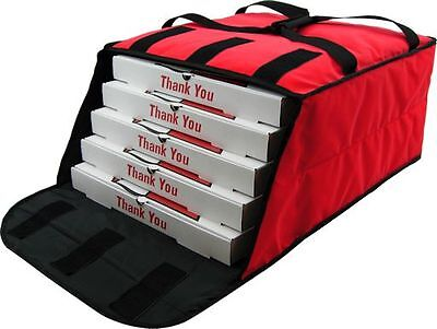 "Pizza Delivery Bags Holds up to Five 16"" or Four 18"" Pizzas (Red)."