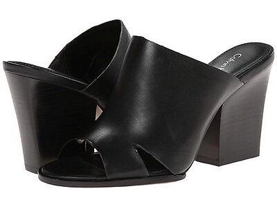 Brand New Calvin Klein Weslia Black Cow Roma Heel Black Shoes Sz 8.5 M