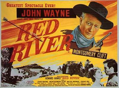 RED RIVER Movie MINI Promo POSTER John Wayne Montgomery Clift Walter Brennan