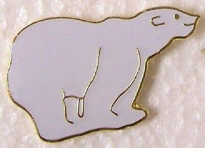 Hat Lapel Pin Scarf Clasp Animal Polar Bear NEW