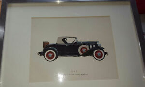 Six beautiful picture from old car professional framed