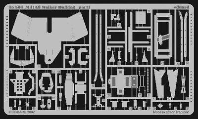 Eduard Accessories 35504 - 1:35 M41A3 Walker Bulldog - Ätzsatz - Neu