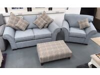 Sofa suite - BRAND NEW - 2 +1 + luxury footstool, £599 for the set.