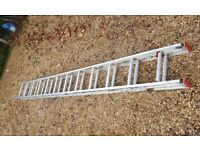 Excellent condition double extension ladders