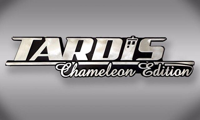 TARDIS Chameleon Edition Dr Who Car Emblem - Chrome Plastic Not a Decal/Sticker