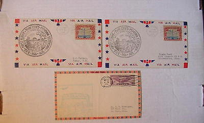 Very Fine Us 1931 First Flights  3  Covers   Pembina  Nd  Duluth  Minn  Air Mail