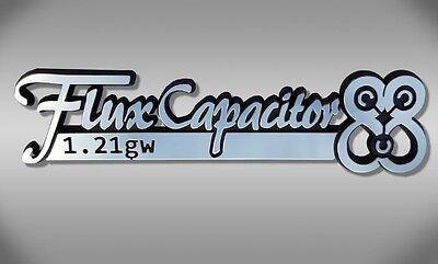 Flux Capacitor Car Emblem - Back to the Future Chrome Plastic