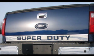 New in package. Chrome strip for tailgate 08-16 Super Duty