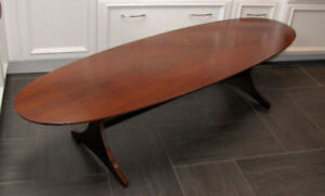 Retro Midcentury Table de Salon  OVAL long living room table