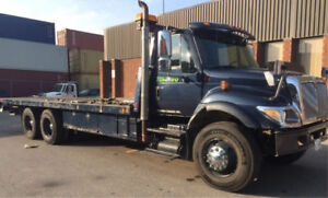 INTERNATIONAL HEAVY DUTY TANDEM FLATBED TOW TRUCK NRC 40K