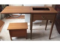 Sewing machine table & sewing box £20 Ono