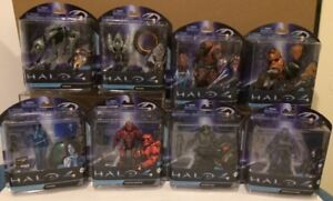 COMPLETE SET OF 8 ACTION FIGURES SERIES 1 & 2 HALO 4