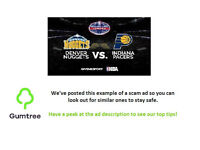NBA Global Games Nuggets v Pacers --- Read description before replying!