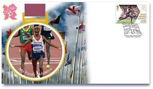 OLYMPIC-GOLD-MEDAL-WINNER-STAMPS-FIRST-DAY-COVER-MO-FARAH-5000M