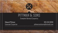 Pittman&Sons Construction WE DO IT ALL!  Since 1976