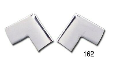 1955 1956 1957 Chevy Belair 210 150 Rear Window Corner Trim Molding Pair Sedan