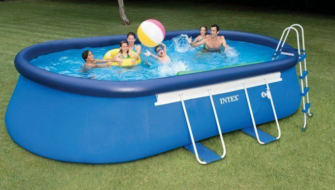 Top 10 above ground pools ebay - Intex oval frame pool ...