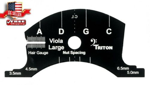 "SETUP  MULTIFUNCTION TEMPLATE VIOLA 16-16.5"" BRIDGE CUTTER   LUTHIER  MAKER TOOL"