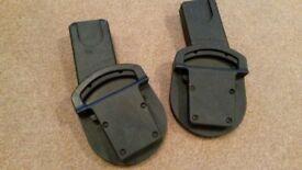 Car Seat Adaptors (Urbo/Sola/Zoom)- Maxi-Cosi Pebble, CabrioFix / BeSafe. Cybex Aton, Aton Q, &Cloud