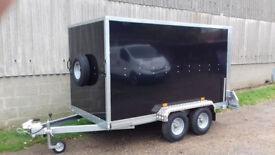 Box Trailer Tickners GT 9' x 5' x 5' in Black with Barn Doors
