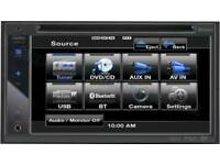 """Clarion VX402E 6.2"""" Double Din DVD Screen Bluetooth USB Aux In car Stereo Player"""