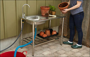 Stainless-Steel Outdoor Wash Table