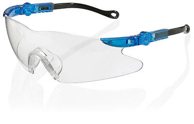 B Brand BBNS NEVADA Safety Eye Protection Specs/Glasses CLEAR Lens Free Cord