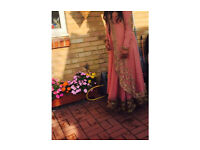 Asian anarkali gown/ coat jacket suite party and wedding wear