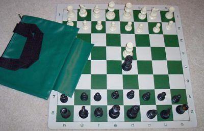 Buy Best Tournament Chess SET 2 extra Queens Vinyl Board Bag NEW,