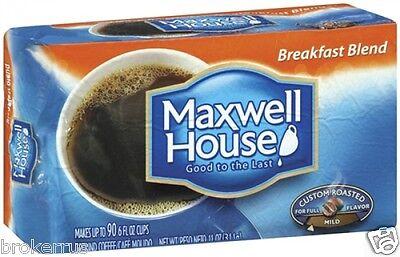 Maxwell House BREAKFAST BLEND Ground Coffee MILD Custom Roasted 11 oz Vacuum Bag